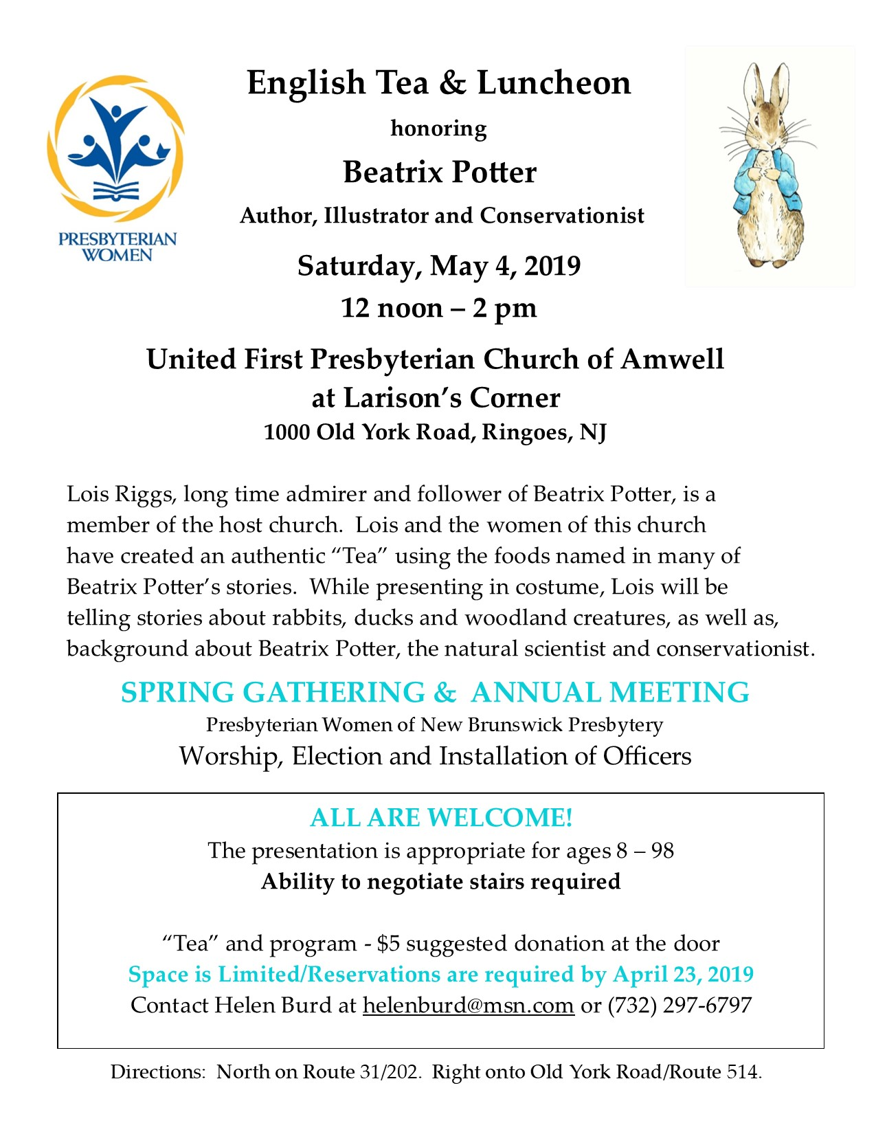 Beatrix Potter flyer